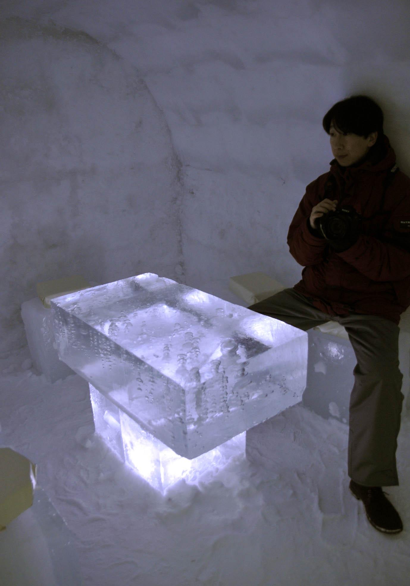 氷のテーブル