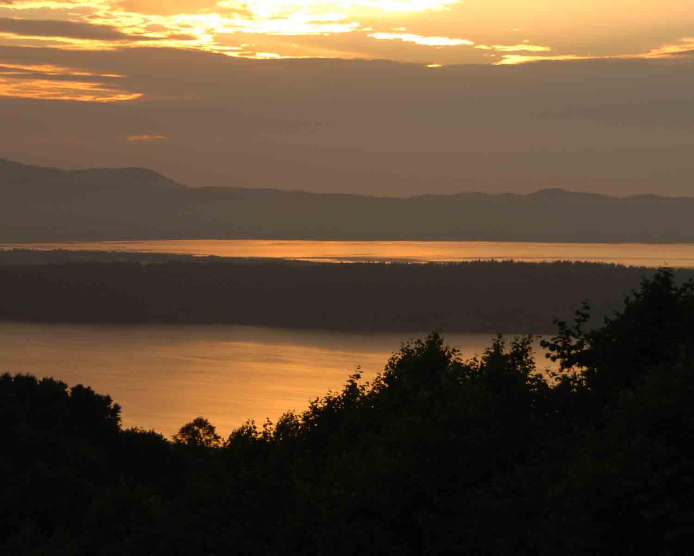 網走の夕陽